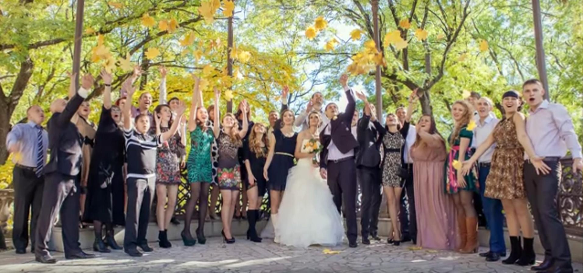 свадьбы в октябре. фото