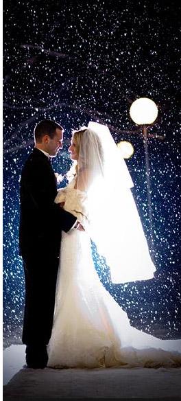 свадьба в январе под снегом