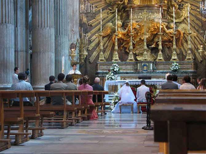 обряд венчания у католиков