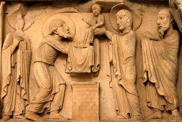 Сретение Господне скульптурой