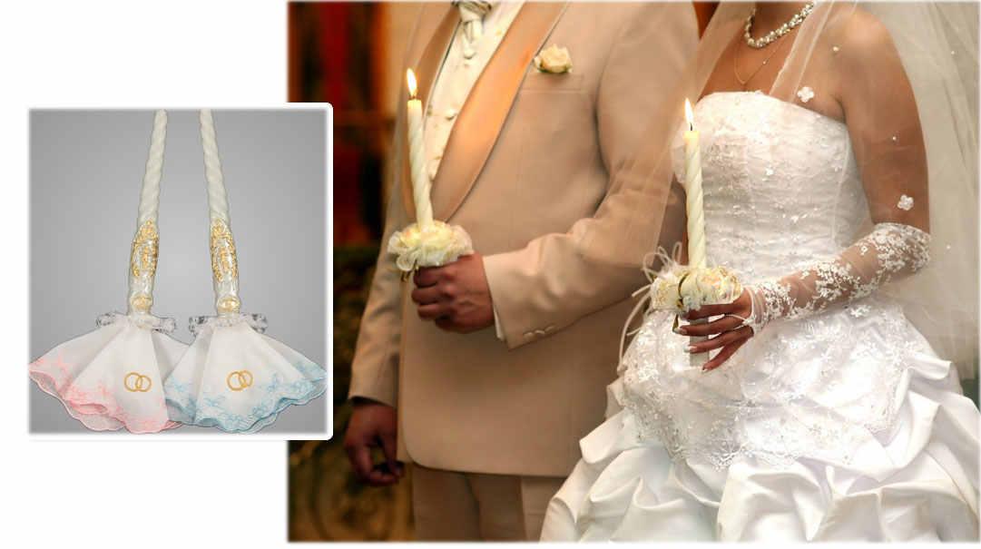 салфетки для свечей на венчание