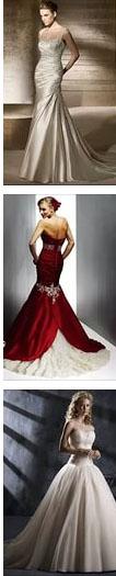 стиль свадебного платья по цвету