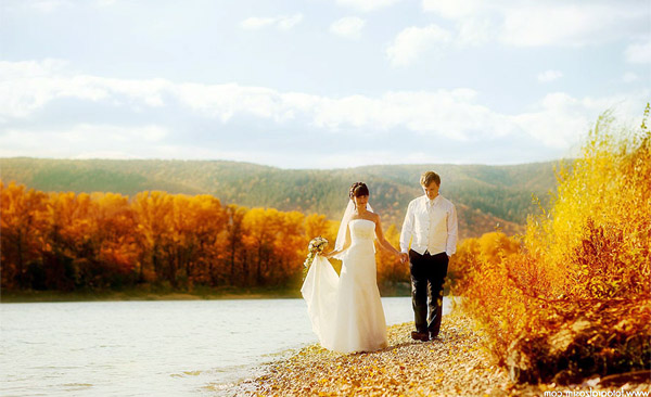 Фото на свадьбу осенью