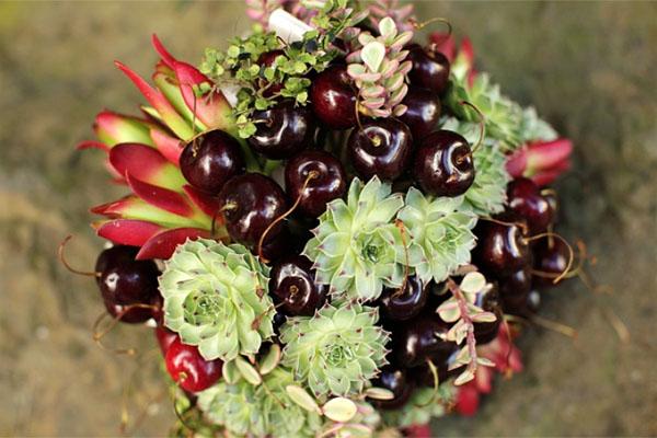 фруктовый букет невесты