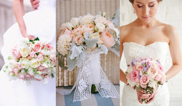 букет невесты пастельных тонов