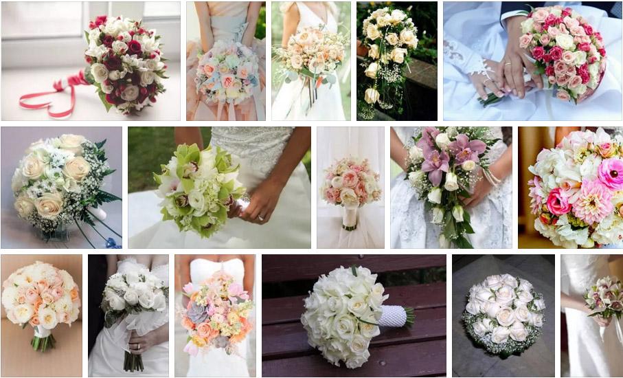 свадебный букет невест
