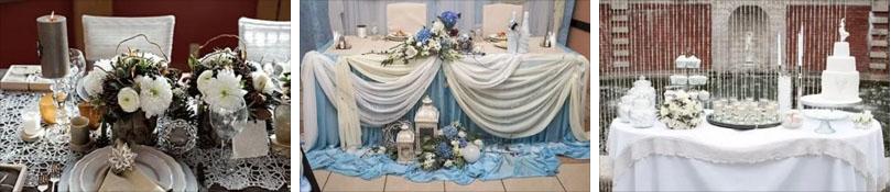 зимняя свадьба по оформление
