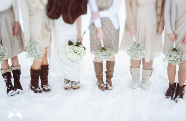 свадьба зимой как одеться гостям