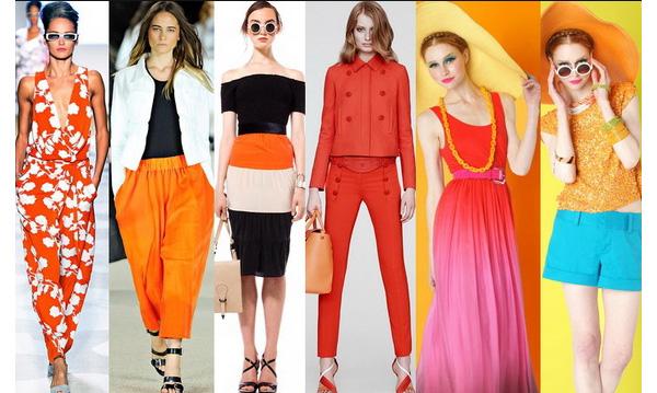 модная и яркая одежда