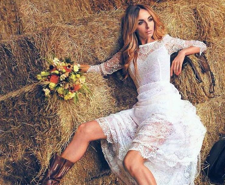Екатерина Варнава в свадебном платье