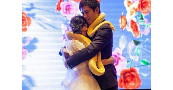 Обручальные удавы на свадьбе