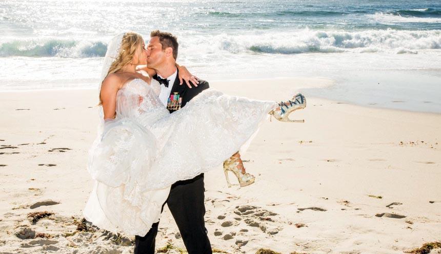 невеста в босоножках