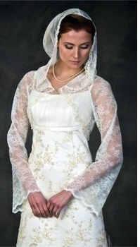 невеста в венчальном платье
