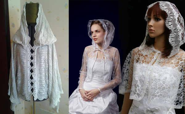 Венчальная накидка невесты