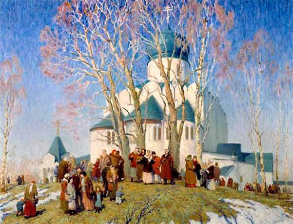Вербное воскресенье на селе