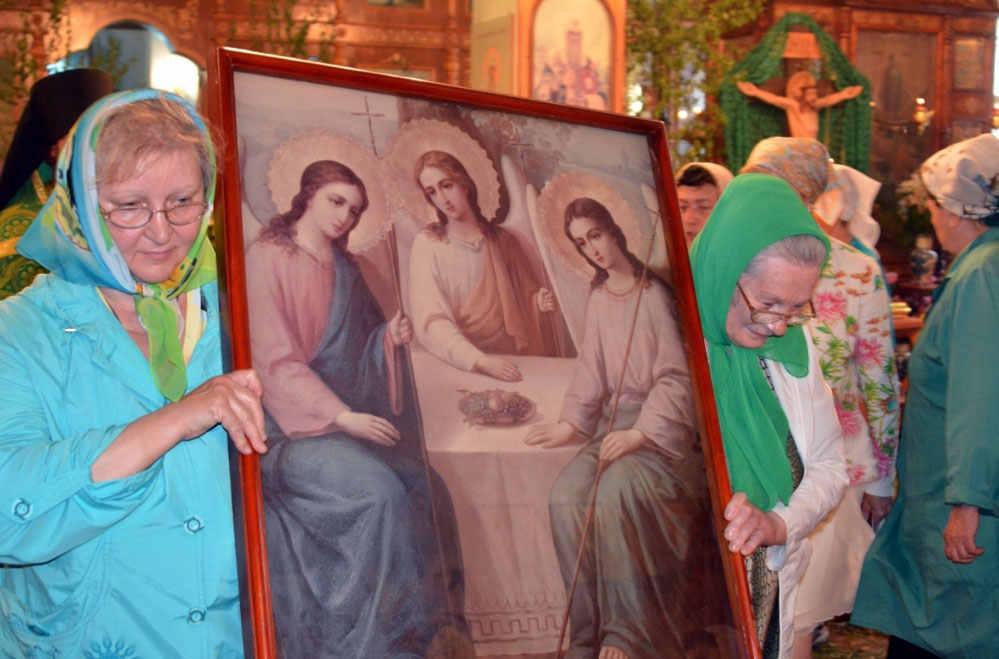 Икона православной троицы