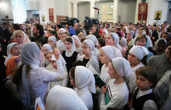 платки в церкви для женщин