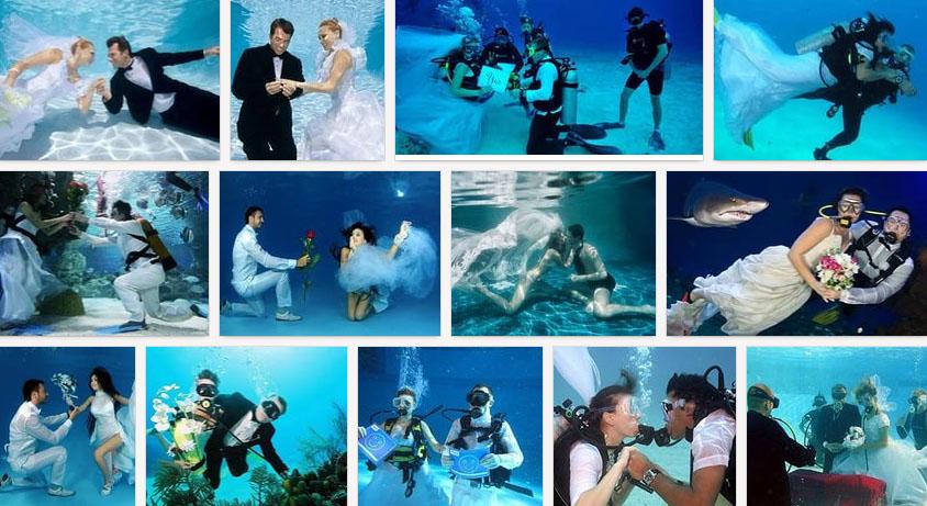 фото свадебной церемонии под водой