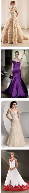 цвета свадебного платья