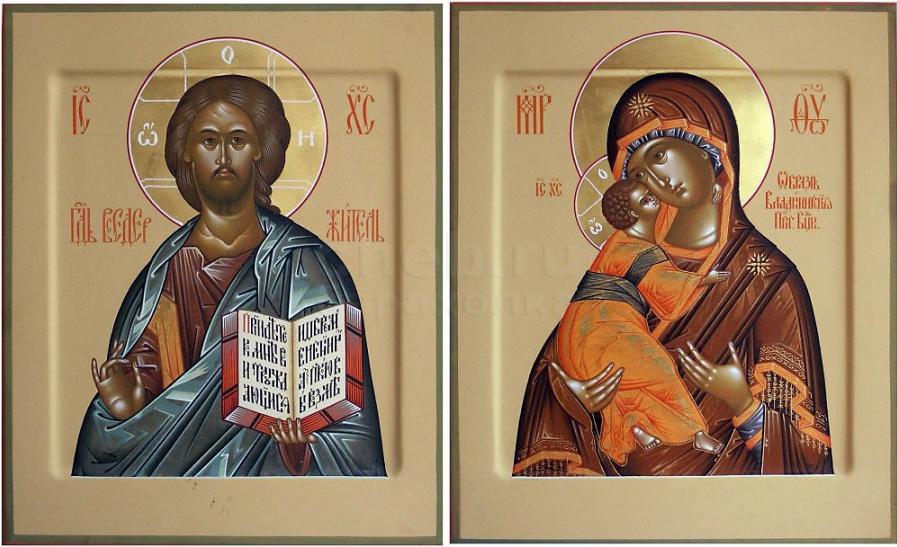 пара венчальных икон