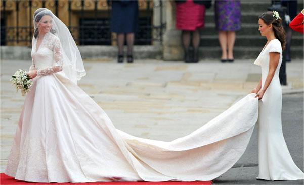 Кейт Миддлтон шлейф свадебного платья