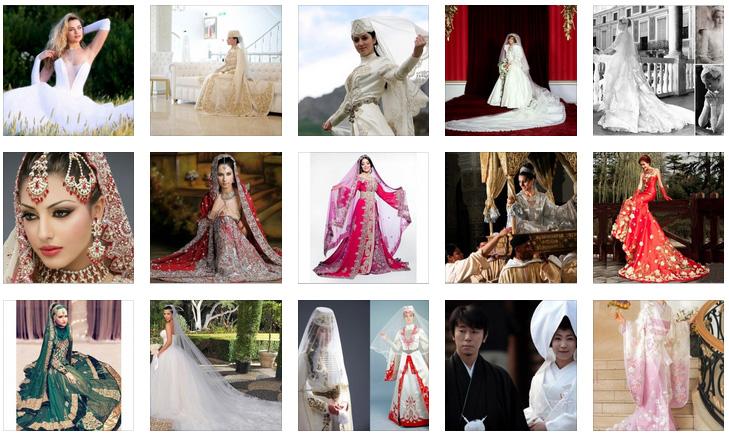 свадебные платья невест мира