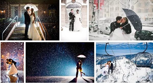 Свадьба в снег и дождь