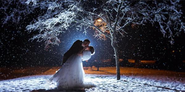 свадьба в снег