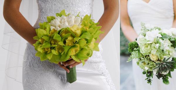 букет невесты зеленого оттенка