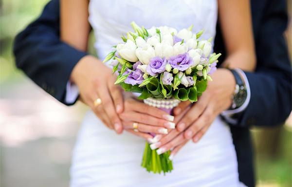 тюльпановый букет невесты