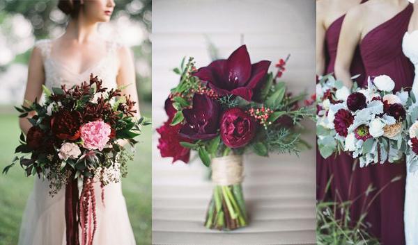 букет невесты цвета Марсал