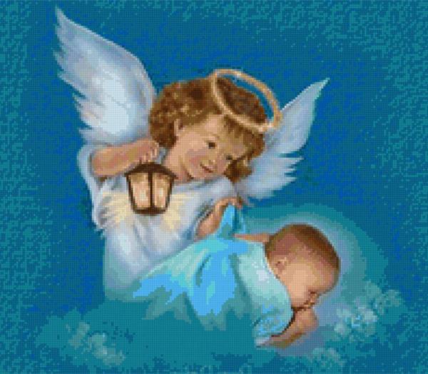 ангел хранитель охраняет ребенка