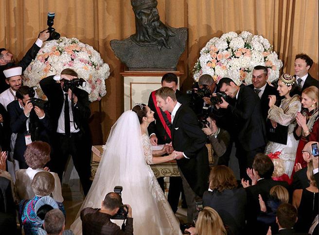 Свадьба Лека II Зогу и Элия Захария