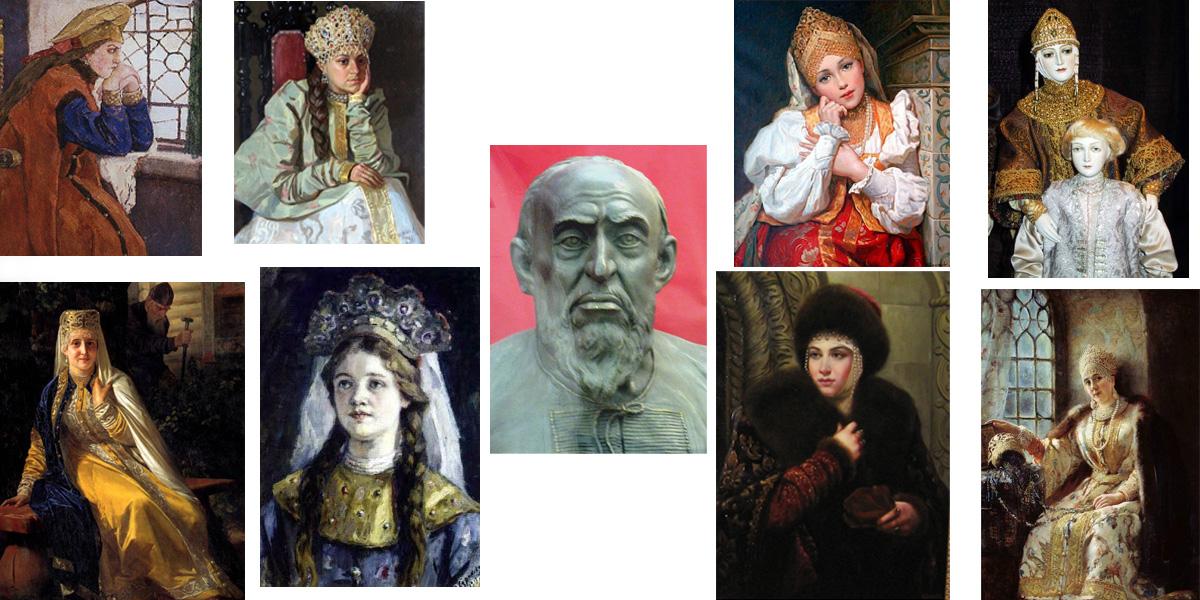 жены Ивана Грозного, фотографии