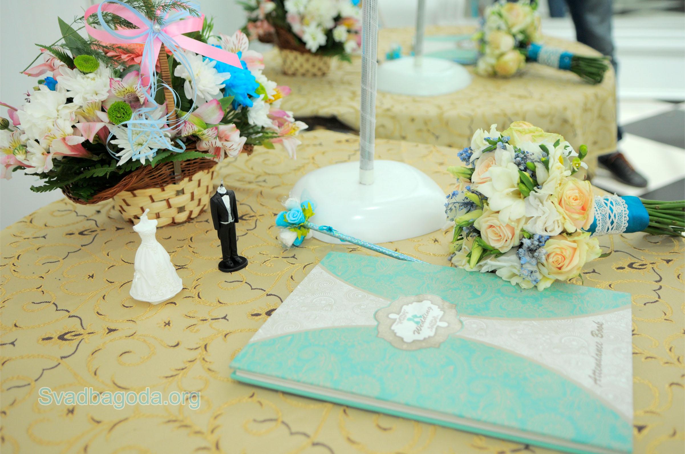 бирюзовый цвет свадьбы
