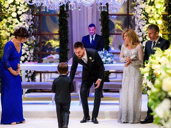 церемония свадьбы Месси